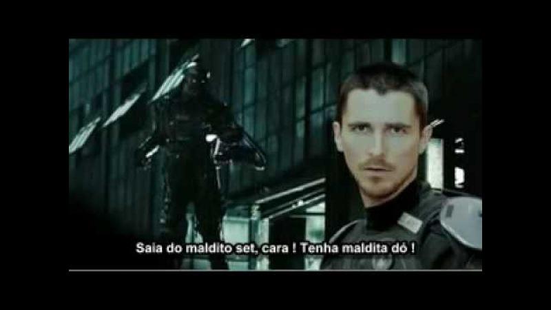 Christian Bale perde a cabeça - Legendado