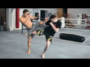 Как отработать встречные удары ногами Хай Кик и Лоу кик
