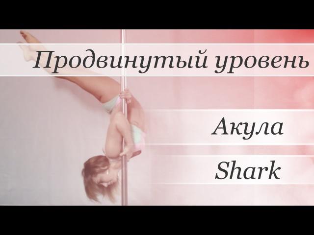 How to pole dance Shark - pole dance tutorial /Уроки pole dance - Акула (вар. Сигма)