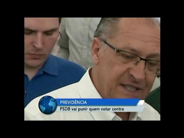 Tucano que votar contra a reforma da Previdência será punido, diz Alckmin