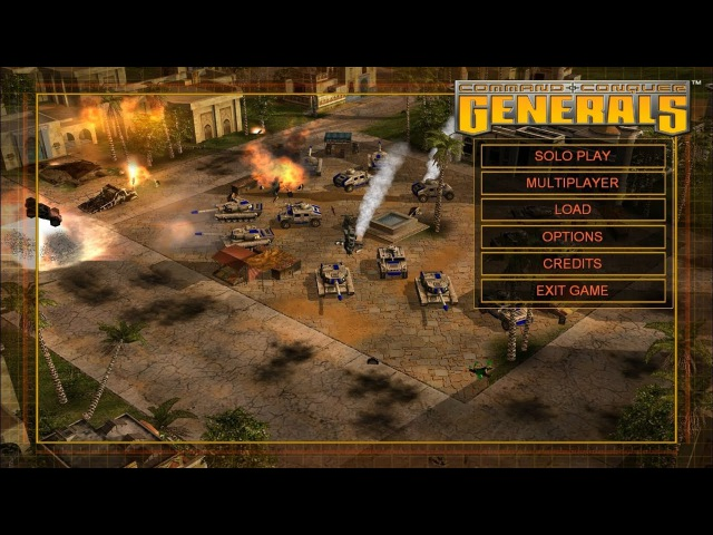 Command and Conquer: Generals (2003) - main menu [4K, ULTRA HD]