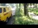 1 июля 2014. Краматорск. Краматорск после обстрела. Расстрелянная маршрутная Газель 18
