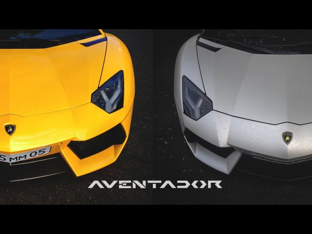 Lamborghini Aventador and Aventador Roadster cruising in Yerevan. Sound and Revs compilation