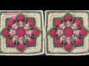 CROCHET Cuadro Vitral Florido Stained Glass Square