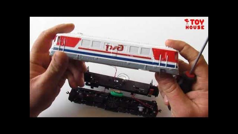 Что внутри игрушки? Разберем модель тепловоза РЖД со звуком и светом масштаб H0 1/87