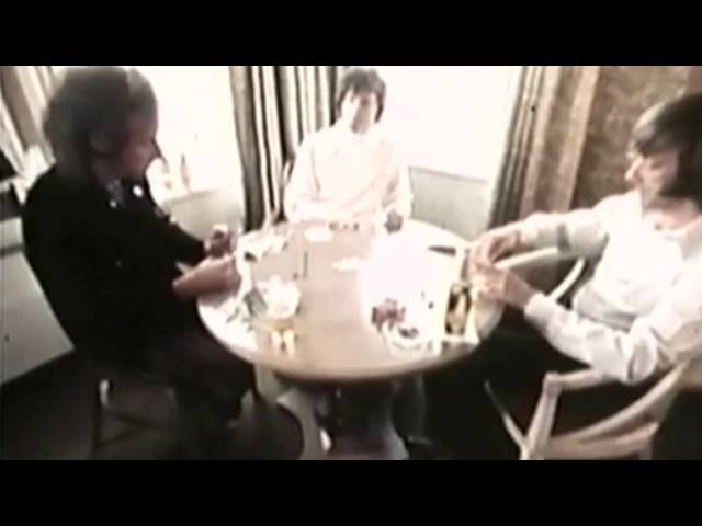 Jim Morrison, Ray Manzarek, Robbie Krieger Playing a Game Of Cards. Rare footage of The Doors Part 1
