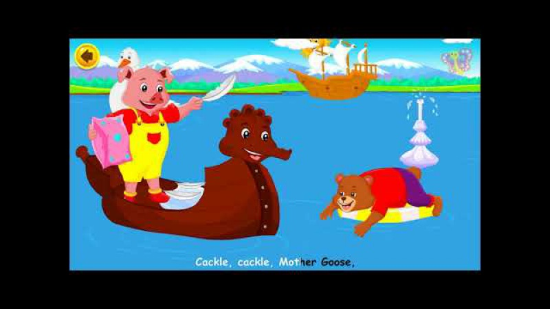 Cackle Cackle Mother Goose | English Nursery Rhymes with Lyrics | Original Kids Songs from BooBoo