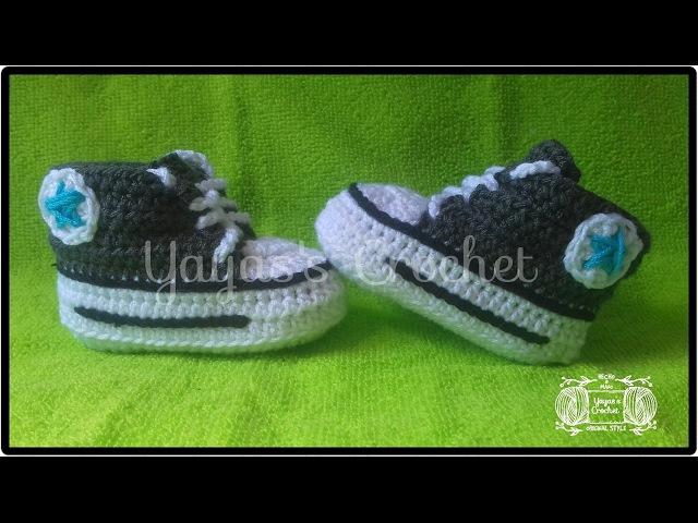 Converse a crochet súper fácil