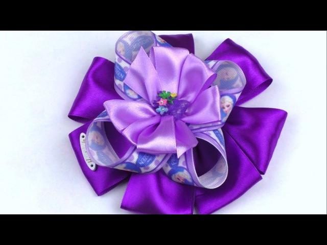 Мастер класс из атласных лент БАНТИК / Большой Бант / Bow satin ribbons
