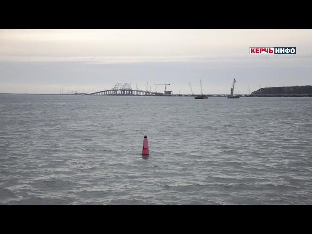 Крымский мост видео с парома «Победа»