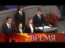 «Война— это зло», хотел сказать школьник Николай Десятниченко всвоем выступл