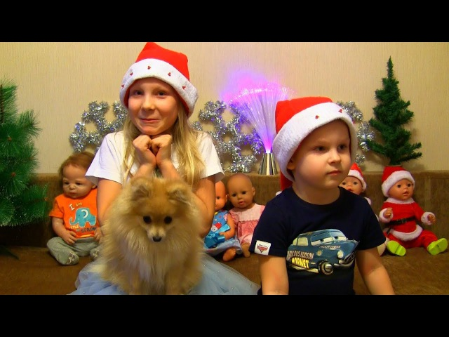 🎄👶❄Готовимся к встрече Нового года! Наряжаем ЁЛКУ с куклами! Видео для детей!