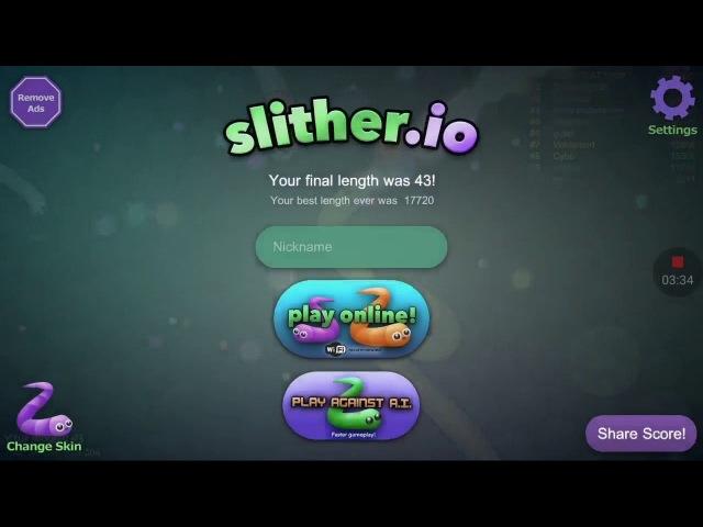 Играем В Slither.io 1