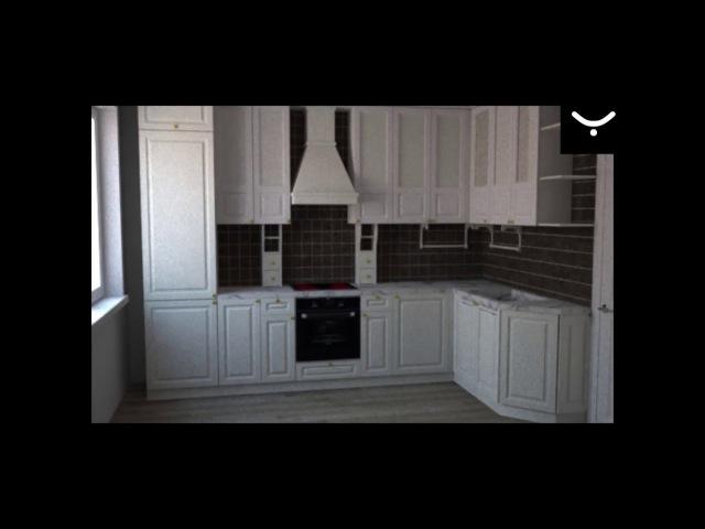 Яшкина мебель Создание дизайн проекта кухни в 3ds max Timelapse