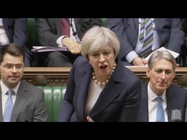 May vs Corbyn at PMQs: He can lead a protest, I'm leading a country · coub, коуб