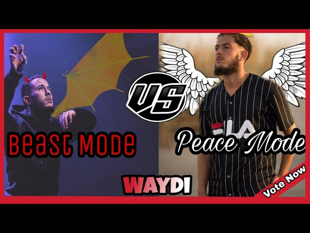 Waydi Vs Waydi |Peace mode vs Beast mode | Youtube Vote Dance Battle 2018 New!