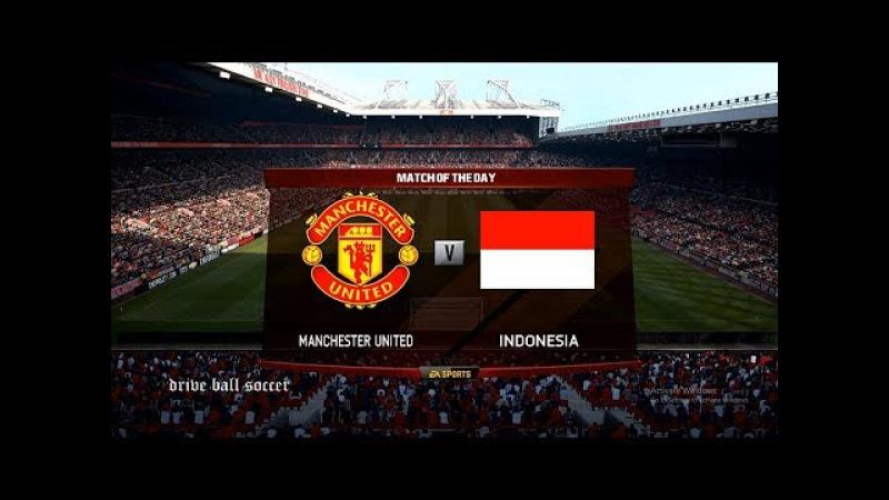 Timnas Indonesia, Tour de England 2 | Manchester United vs Indonesia | PES 2017 HD
