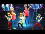 Kids dance at a disco, funny video for children