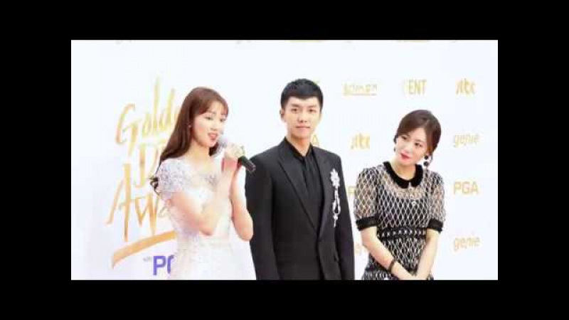 3  180110 Lee Sung Kyung Lee Seung Gi - Golden Disc Awards MCs @비몽