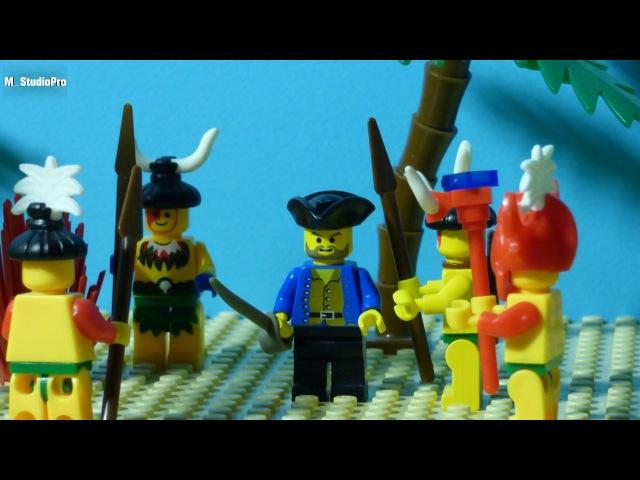 Ограбление сокровищницы племени Индиго стоп моушен обзор Лего 6248 мультик для детей на русском