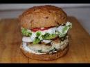 Фрешбургер с редисом и сметанно чесночным соусом Freshburger with radish and garlic sauce
