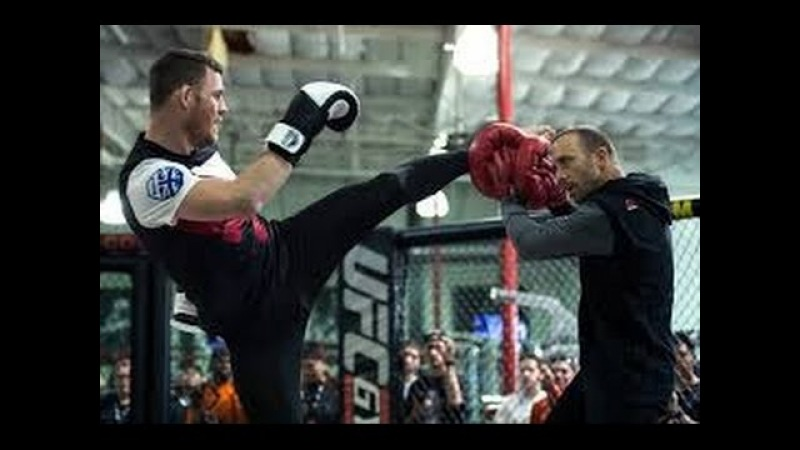 MICHAEL BISPING BEAST MODE TRAINING FOR GEORGES ST PIERRE UFC MMA