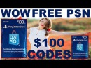 333wow How to get free psn codes fast working just update 1985