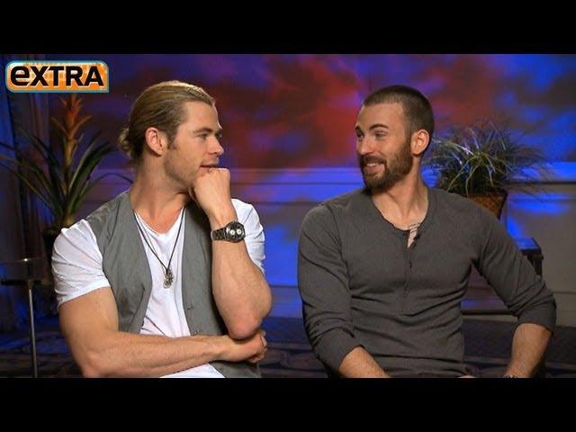 The Avengers Interviews Chris Hemsworth and Chris Evans