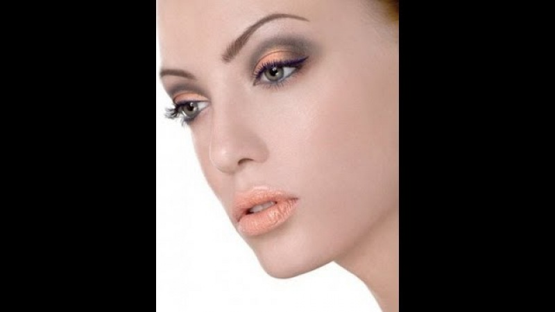 Кораловый макияж Coral grey make up