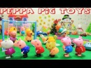 Peppa Pig Toys Episodes in Toy City Peppa Pig and George Pig Visit Grandpa Pig on Christmas Day