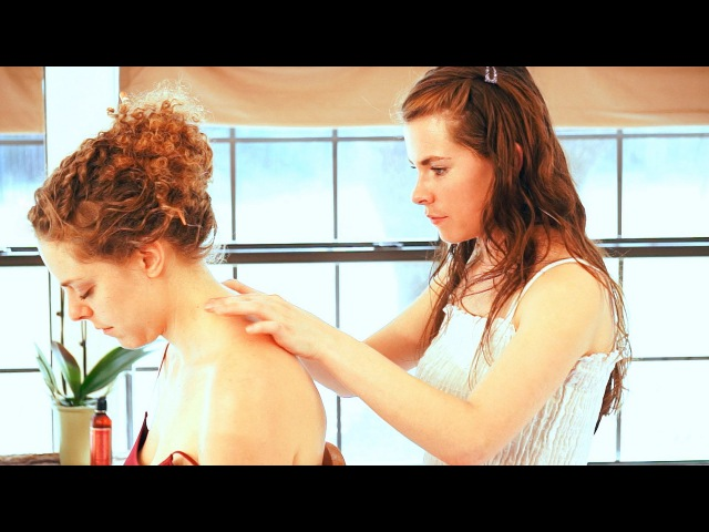 ASMR Neck Massa Swedish Massage Therapy Techniques For Neck Pain; Full Body Massage Series