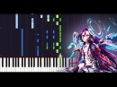 There is a reason FULL - No game no life Zero The movie - ED Piano cover SHEETS Synthesia