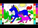 Drawing and Coloring Horse and Foal for Kids Farm Animal Coloring Pages Learning Animals
