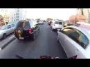 Сумасшедшая езда по улицам Бразилии Мото гонки