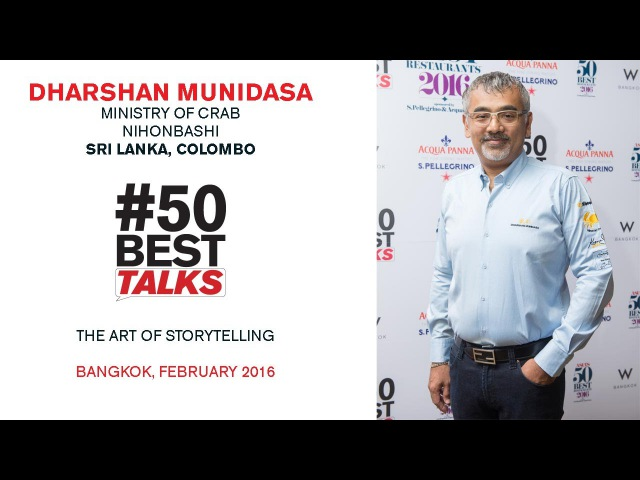 Chef Dharshan Munidasa of Ministry of Crab on The Art of Storytelling at 50BestTalks Asia