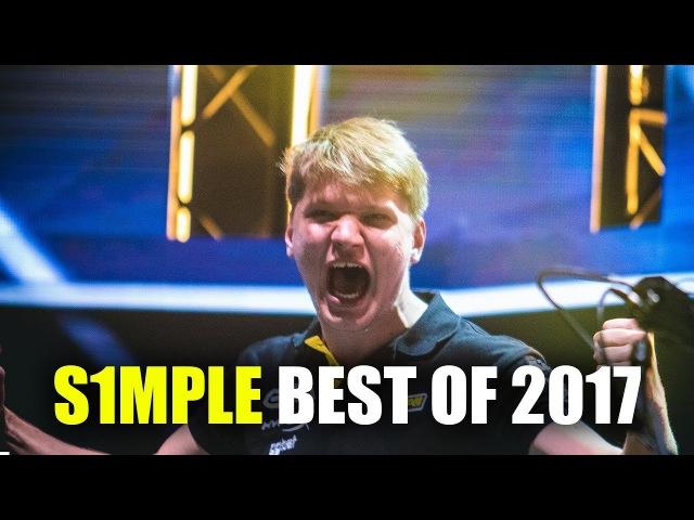 ЛУЧШИЕ МОМЕНТЫ СИМПЛА ЗА 2017 ГОД / S1MPLE BEST PLAYS OF 2017 CSGO