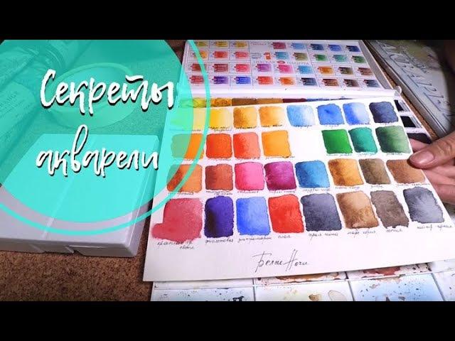 Акварельные уроки. Набор акварельных красок. Как хранить кисти для рисования.