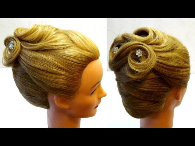 Прическа на выпускной на средние волосы🍓 Свадебные прически 🍓Prom hairstyle🍓 wedding hairstyle