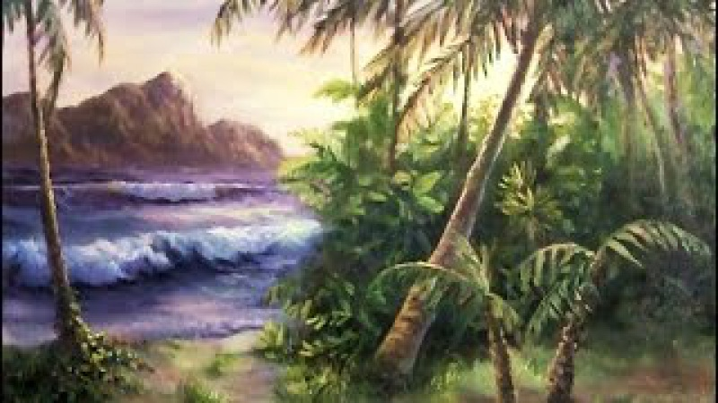 Tropical Island | Paint with Kevin Hill | art painting