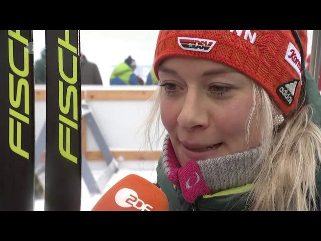 Oberhof-2018. Comments from Maren Hammerschmidt and Vanessa Hinz after relay