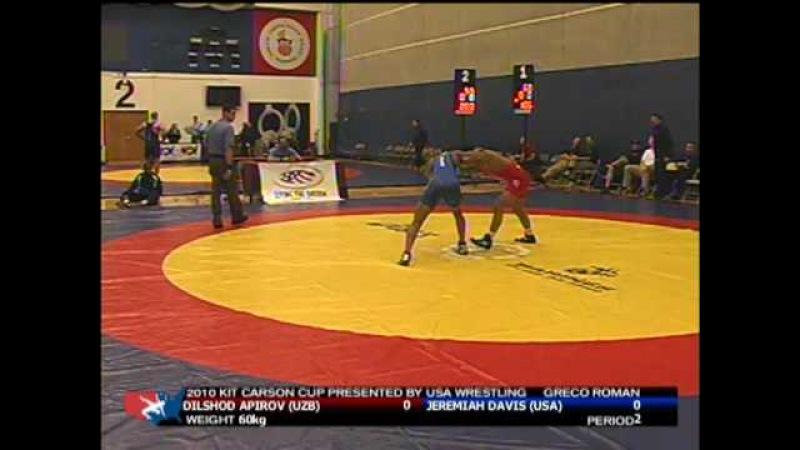 60kg: Jeremiah Davis (USA) vs. Dilshod Apirov (Uzbekistan)