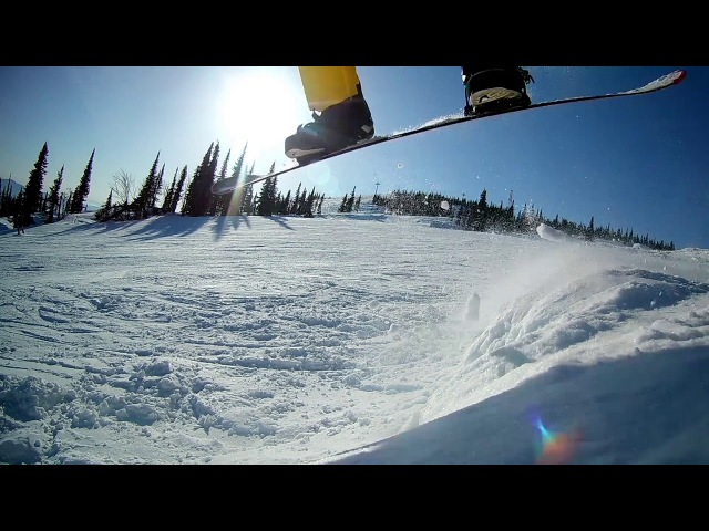 Jump Шерегеш февраль 2018 slow motion