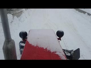 чистка снега трактором Т 30 69