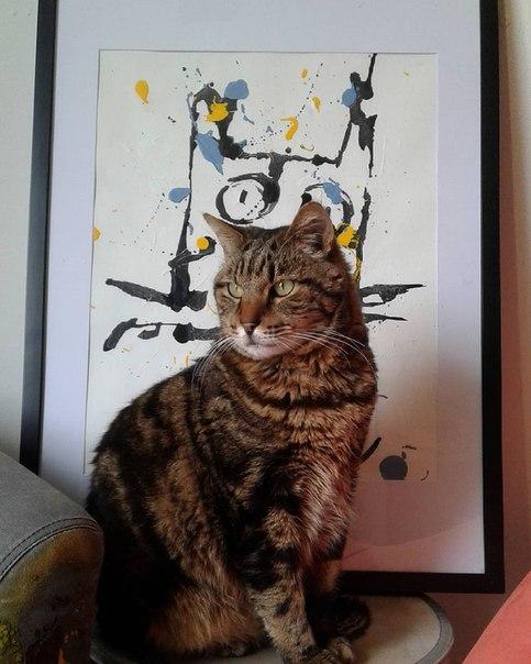 Невероятная дружба художника и его кошки.