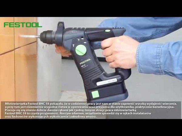 Test młotowiertarki Festool BHC 18 Li 4,2 Plus przeprowadzony przez Gazetę Narzędziową