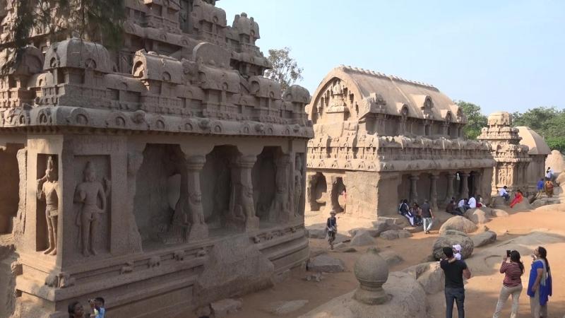 Monuments at Mahabalipuram , Tamil Nadu, India