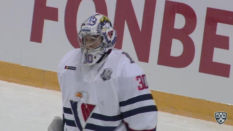 Моменты из матчей КХЛ сезона 17/18 • Интересный момент. Великолепный проход Джоната Блума (Адмирал) через всю площадку, но забит