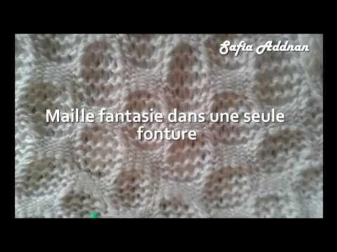 Maille fantasie dans une seule fonture passap - حياكة الصوف مشبكة بواجهة واحدة