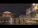 Монтаж новогодних конструкций на Тверской улице