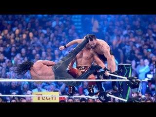 Full Highlights Seth Rollins vs Finn balor Vs The Miz - WWE Wrestle Mania 34